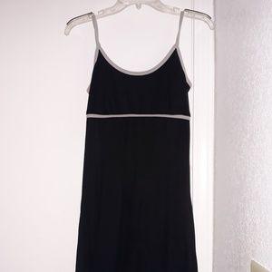 Large Black Stretchy Straight Tank Dress